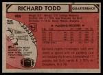 1980 Topps #405  Richard Todd  Back Thumbnail