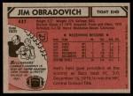 1980 Topps #437  Jim O'Bradovich  Back Thumbnail