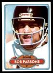 1980 Topps #482  Bob Parsons  Front Thumbnail
