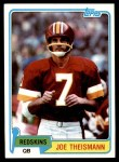 1981 Topps #165  Joe Theismann  Front Thumbnail