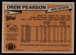 1981 Topps #95  Drew Pearson  Back Thumbnail