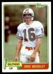1981 Topps #174  David Woodley  Front Thumbnail