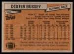 1981 Topps #362  Dexter Bussey  Back Thumbnail