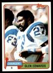 1981 Topps #418  Glen Edwards  Front Thumbnail