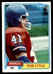 1981 Topps #464  Rob Lytle  Front Thumbnail