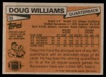 1981 Topps #32  Doug Williams  Back Thumbnail