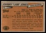 1981 Topps #16  Johnny Lam Jones  Back Thumbnail