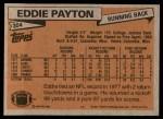 1981 Topps #304  Eddie Payton  Back Thumbnail