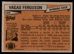 1981 Topps #208  Vagas Ferguson  Back Thumbnail