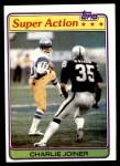 1981 Topps #312  Charlie Joiner  Front Thumbnail