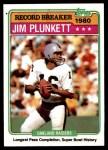 1981 Topps #335   -  Jim Plunkett Record Breaker Front Thumbnail