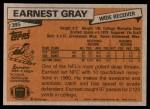1981 Topps #395  Earnest Gray  Back Thumbnail