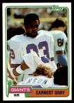1981 Topps #395  Earnest Gray  Front Thumbnail