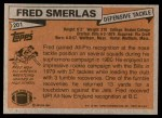 1981 Topps #201  Fred Smerlas  Back Thumbnail