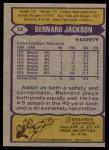 1979 Topps #12  Bernard Jackson  Back Thumbnail