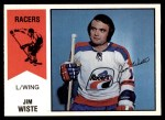 1974 O-Pee-Chee WHA #34  Jim Wiste  Front Thumbnail