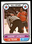 1975 O-Pee-Chee WHA #64   -  Andre Lacroix All-Star Front Thumbnail