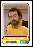 1975 O-Pee-Chee WHA #17  Pierre Guite  Front Thumbnail