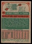 1973 Topps #94  Henry Finkel  Back Thumbnail
