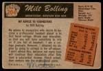 1955 Bowman #204 ERR Frank Bolling  Back Thumbnail