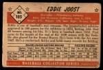 1953 Bowman #105  Eddie Joost  Back Thumbnail