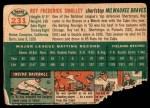 1954 Topps #231  Roy Smalley  Back Thumbnail