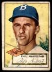 1952 Topps #198  Phil Haugstad  Front Thumbnail