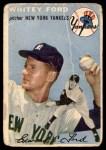 1954 Topps #37 WHT Whitey Ford  Front Thumbnail