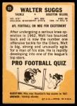 1967 Topps #55  Walt Suggs  Back Thumbnail