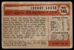 1954 Bowman #165  Johnny Groth  Back Thumbnail