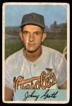 1954 Bowman #165  Johnny Groth  Front Thumbnail