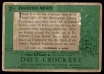 1956 Topps Davy Crockett Green Back #2   Dangerous Mission  Back Thumbnail