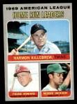1970 Topps #66   -  Reggie Jackson / Harmon Killebrew / Frank Howard AL HR Leaders Front Thumbnail
