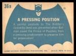 1966 Topps Batman Blue Bat Back #36   Pressing Position Back Thumbnail