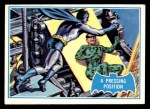 1966 Topps Batman Blue Bat Back #36   Pressing Position Front Thumbnail