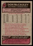 1977 Topps #288  Don McCauley  Back Thumbnail