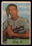 1954 Bowman #26 SS Billy Cox  Front Thumbnail