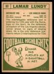 1968 Topps #80  Lamar Lundy  Back Thumbnail