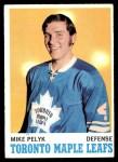 1970 Topps #107  Mike Pelyk  Front Thumbnail
