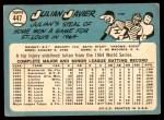 1965 Topps #447  Julian Javier  Back Thumbnail