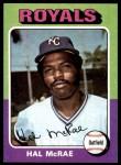 1975 Topps #268  Hal McRae  Front Thumbnail