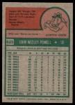 1975 Topps #625  Boog Powell  Back Thumbnail