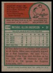 1975 Topps #118  Mike Anderson  Back Thumbnail