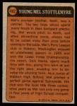 1972 Topps #492   -  Mel Stottlemyre Boyhood Photo Back Thumbnail