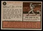 1962 Topps #25  Ernie Banks  Back Thumbnail