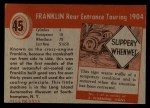 1954 Topps World on Wheels #45   Franklin Rear Entrance Touring 1904 Back Thumbnail