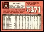 1969 Topps #523  Bob Chance  Back Thumbnail