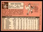 1969 Topps #97  Buddy Bradford  Back Thumbnail