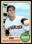 1968 Topps #400 YT Mike McCormick  Front Thumbnail