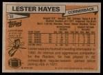 1981 Topps #20  Lester Hayes  Back Thumbnail